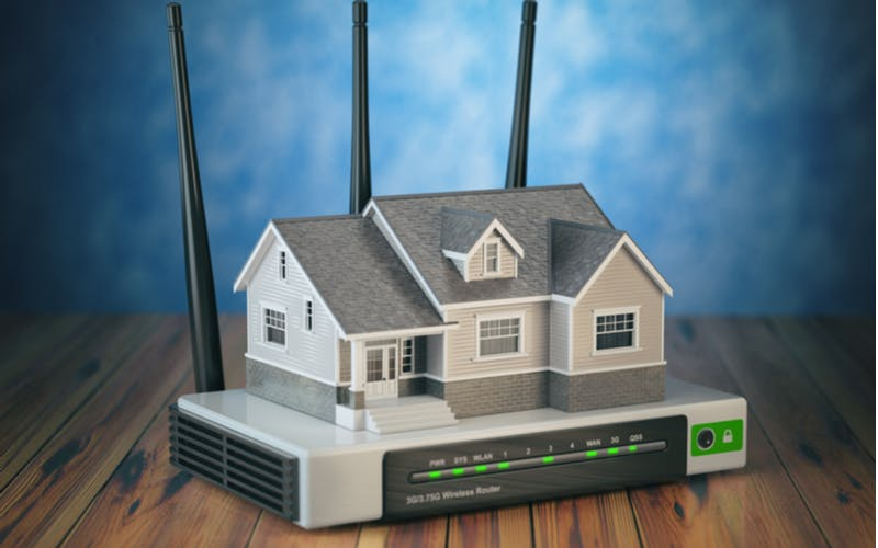house on a router or modem
