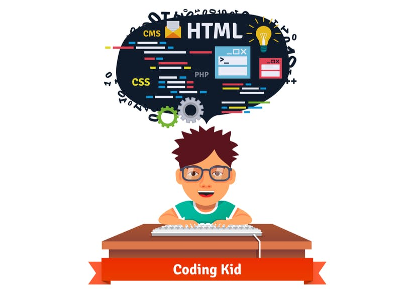 kid learning to code