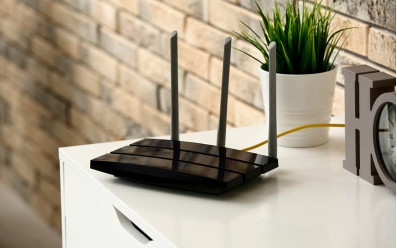 home router connecting the house to a modem