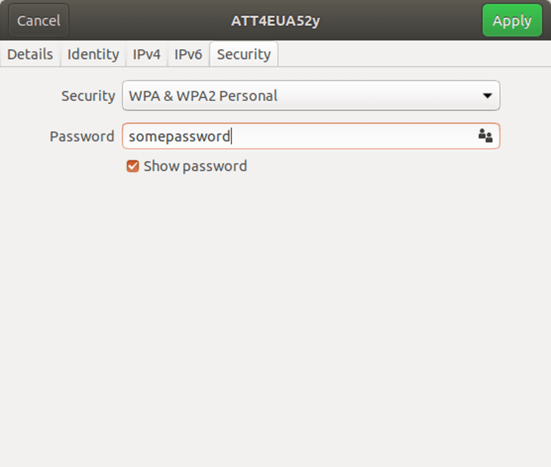 Linux show password screen